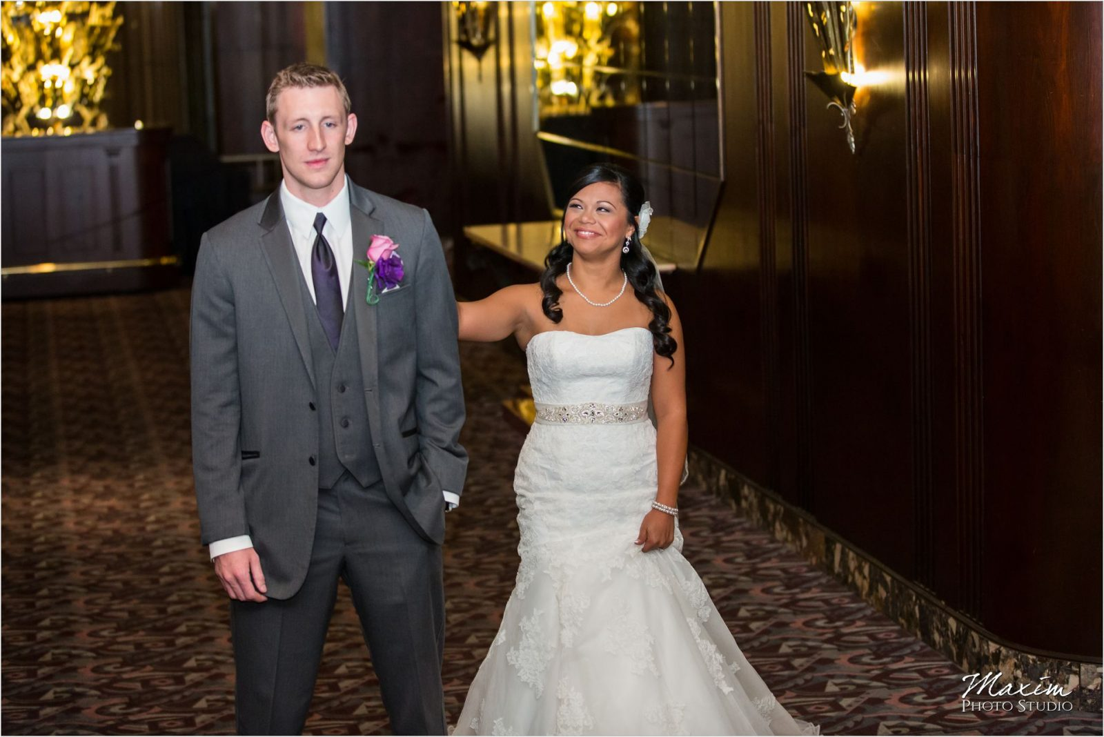 Hilton Cincinnati Netherland Plaza Wedding Bride Groom