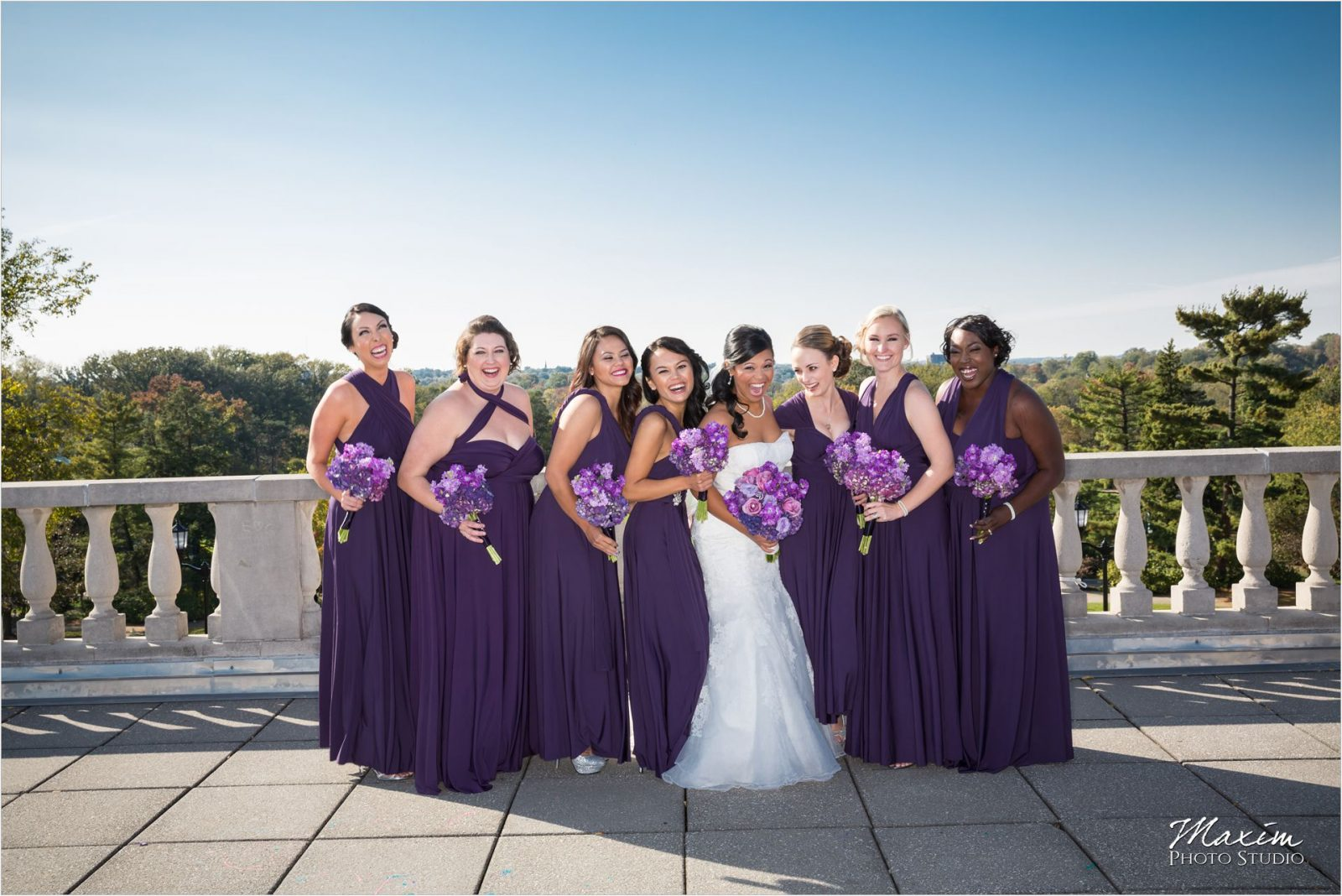 Ault Park Cincinnati Wedding Ceremony Bridesmaids