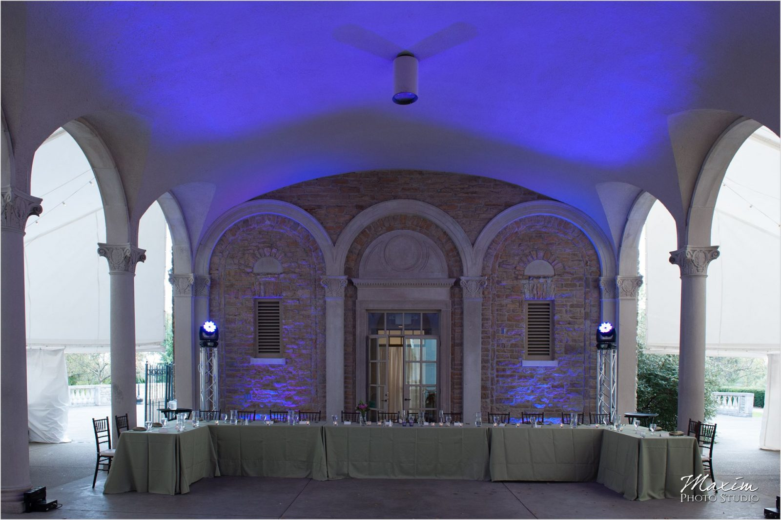 Ault Park Cincinnati Wedding Reception DJCincy lighting