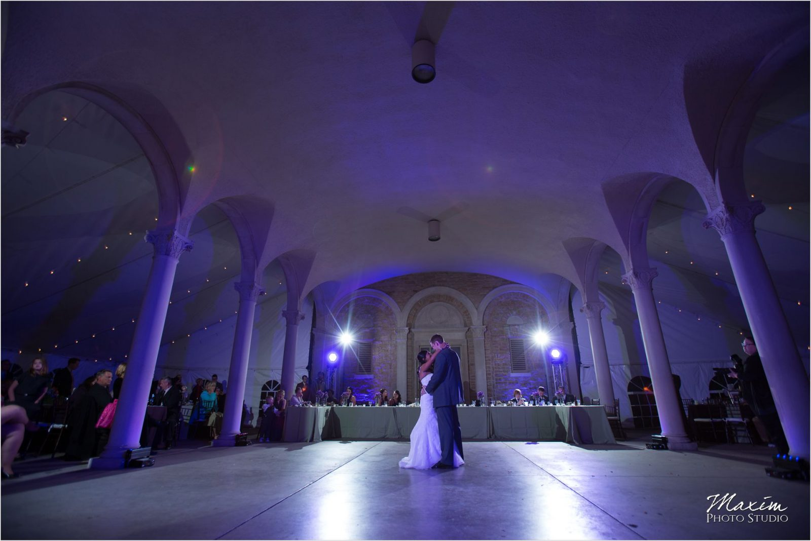 Ault Park Cincinnati Wedding Reception Purple Lighting DJCincy