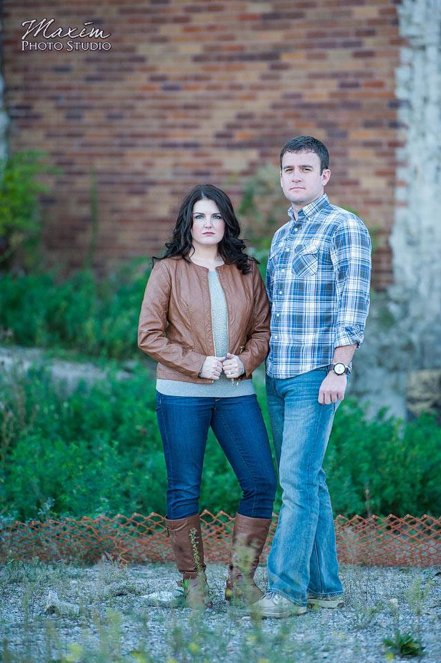 Downtown Dayton Ohio Wedding Engagement photography