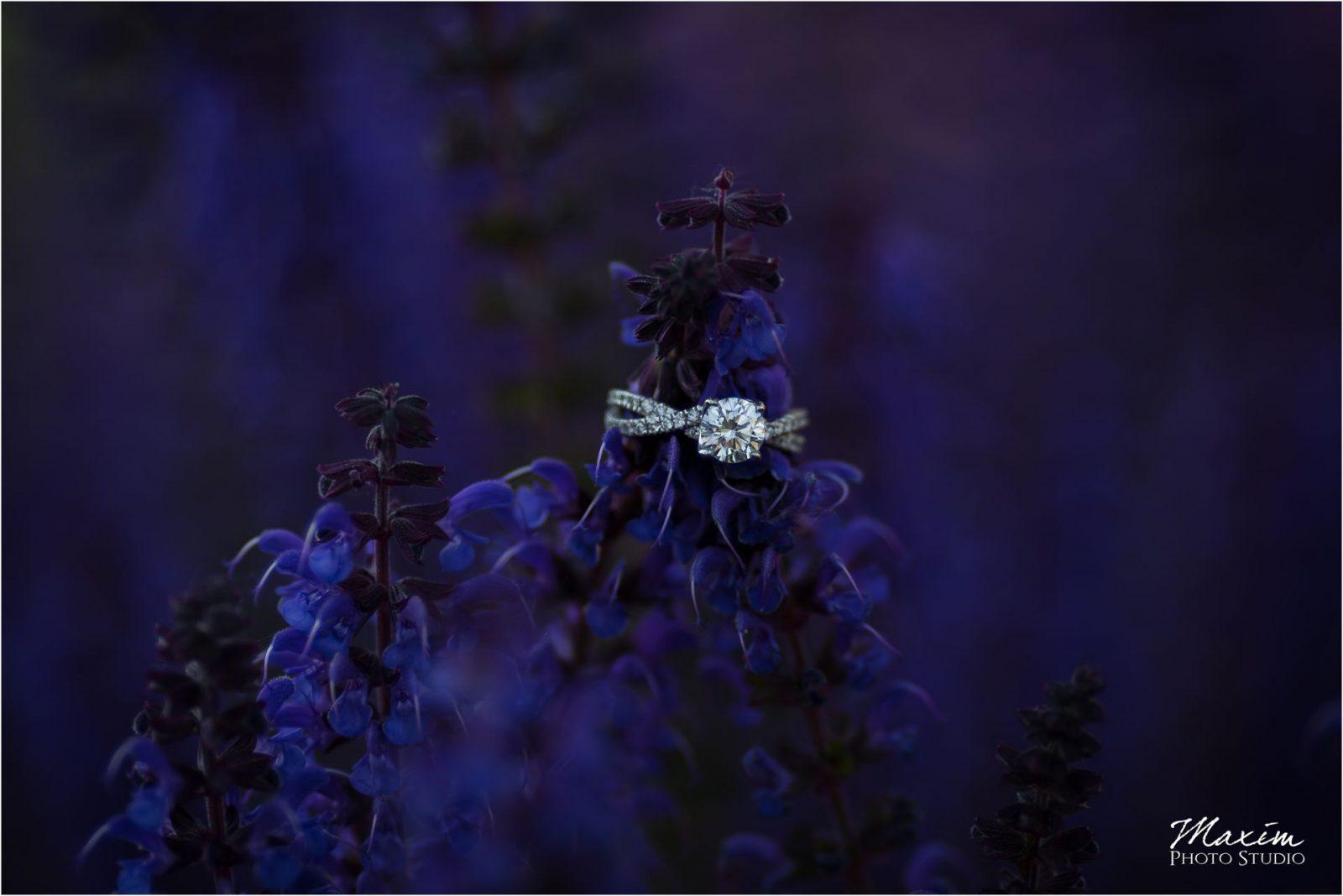 Dayton Art Institute Engagement Photography Wedding purple ring