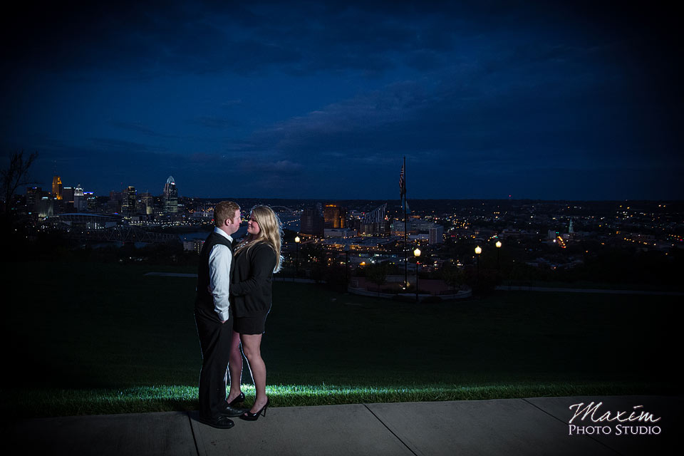 Devou Park Cincinnati After Dark Engagement