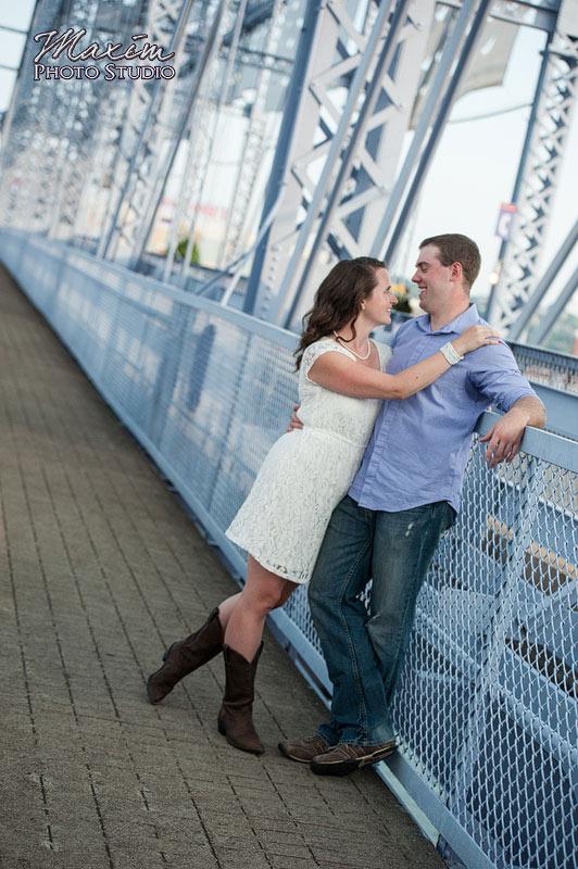 Purple People Bridge Cincinnati Engagement