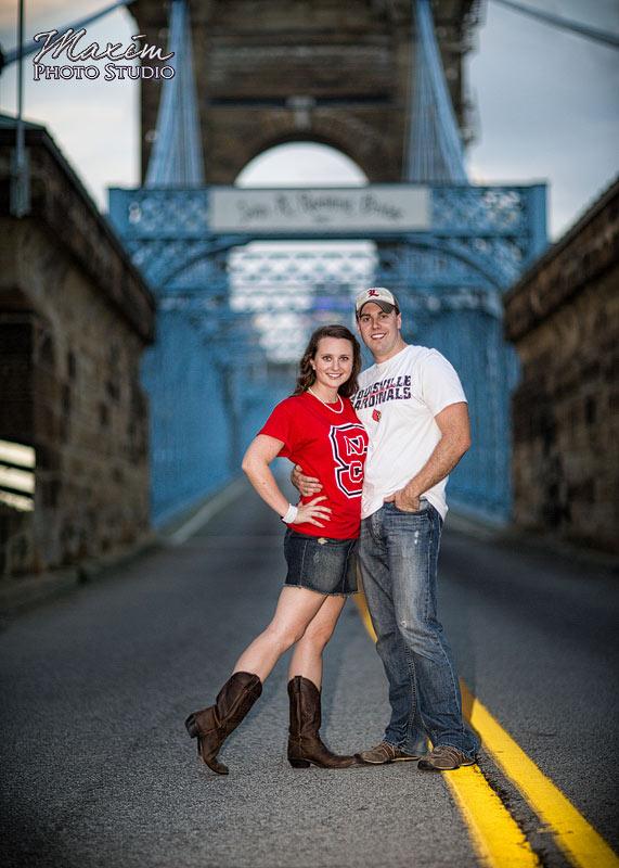 Roebling Bridge Cincinnati Engagement