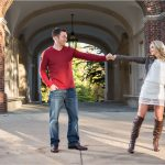 Miami ohio university Oxford engagement photography upham arch