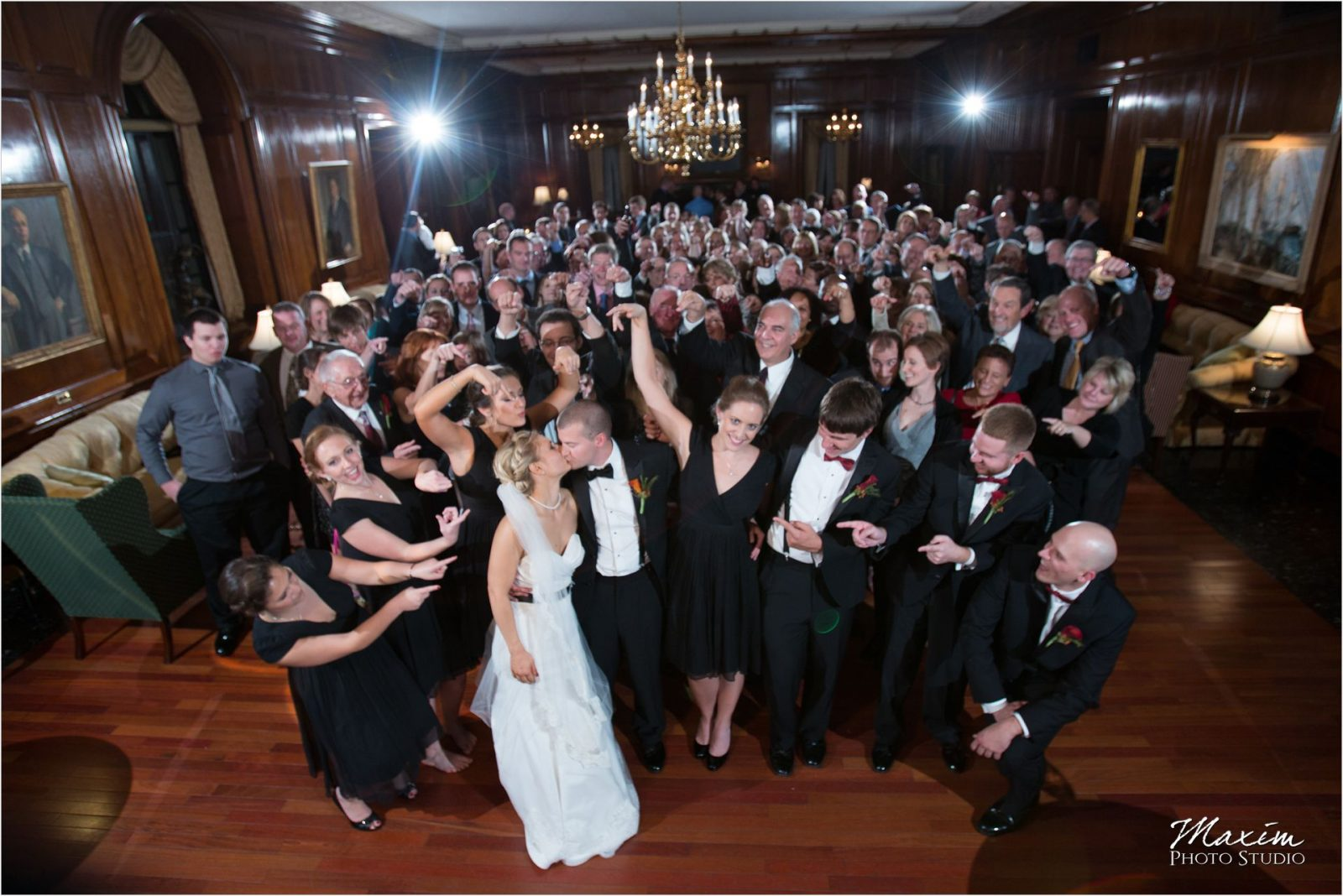 Queen City Cincinnati Wedding Reception Group Photo