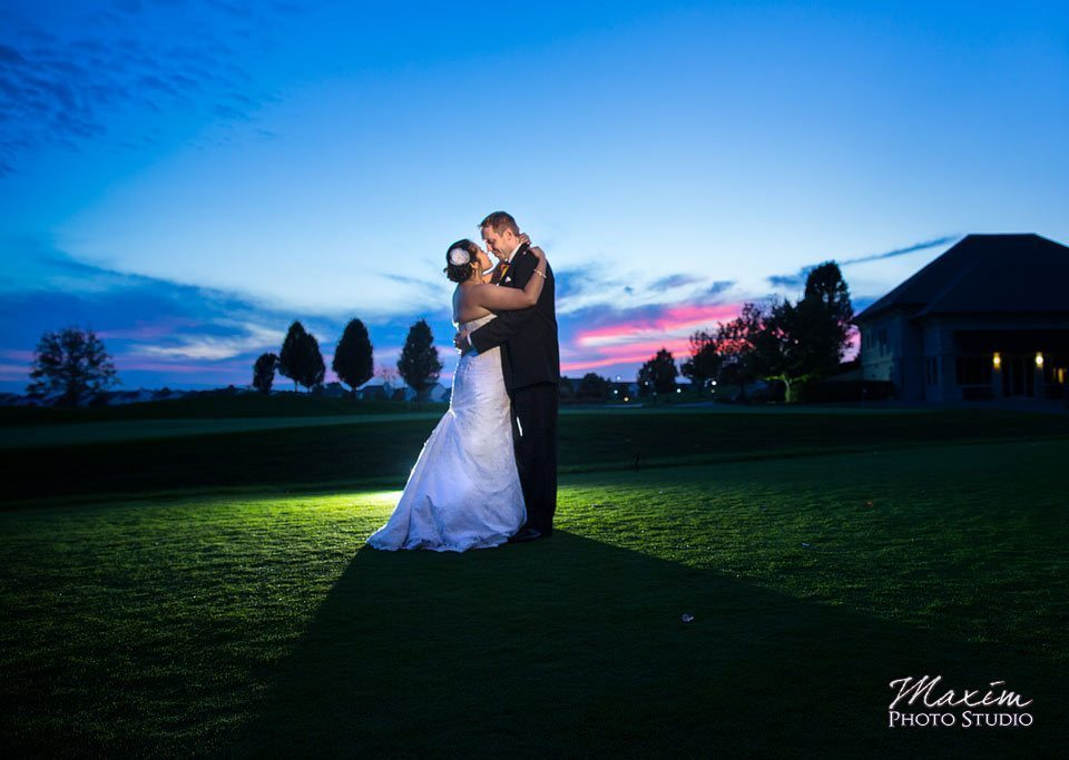 Scioto Reserve Country Club Wedding sunset