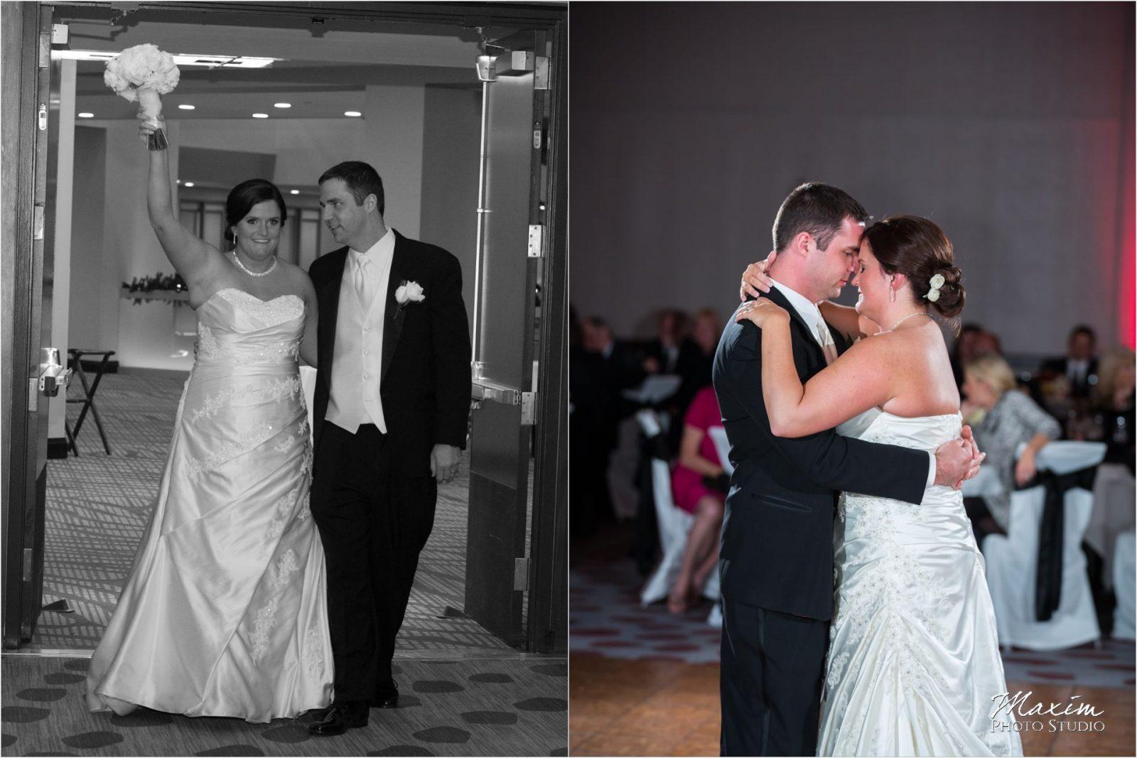 Hyatt Cincinnati Wedding Bride Groom