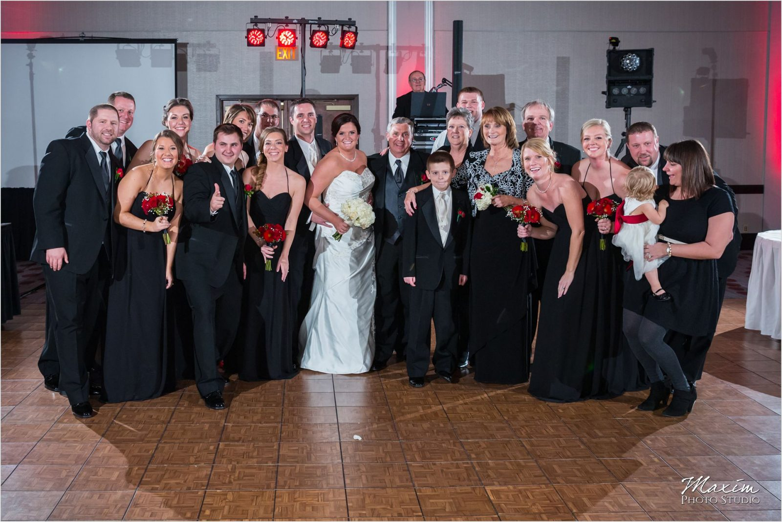 Hyatt Cincinnati Wedding Bridal Party