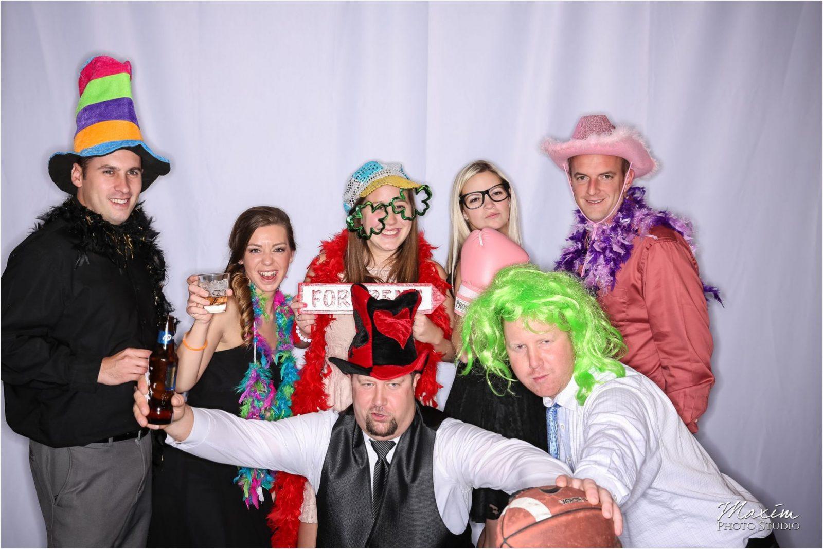 Hyatt Cincinnati Wedding Reception Photo Booth