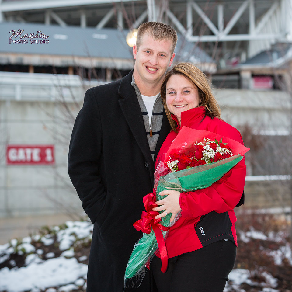 Cincinnati Wedding Photographer: Cincinnati Reds Wedding Proposal With Jason + Becca