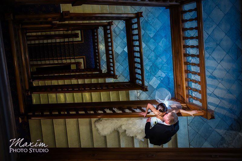 Cincinnati Hotel Cincinnati Russian Wedding Stairs