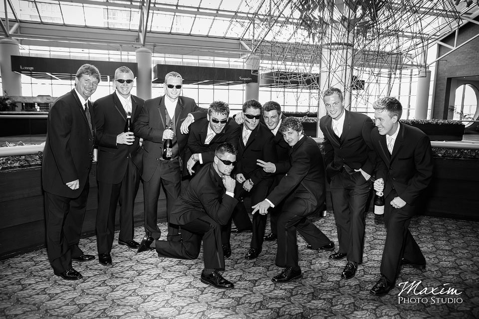 groomsmen at hyatt regency cincinnati