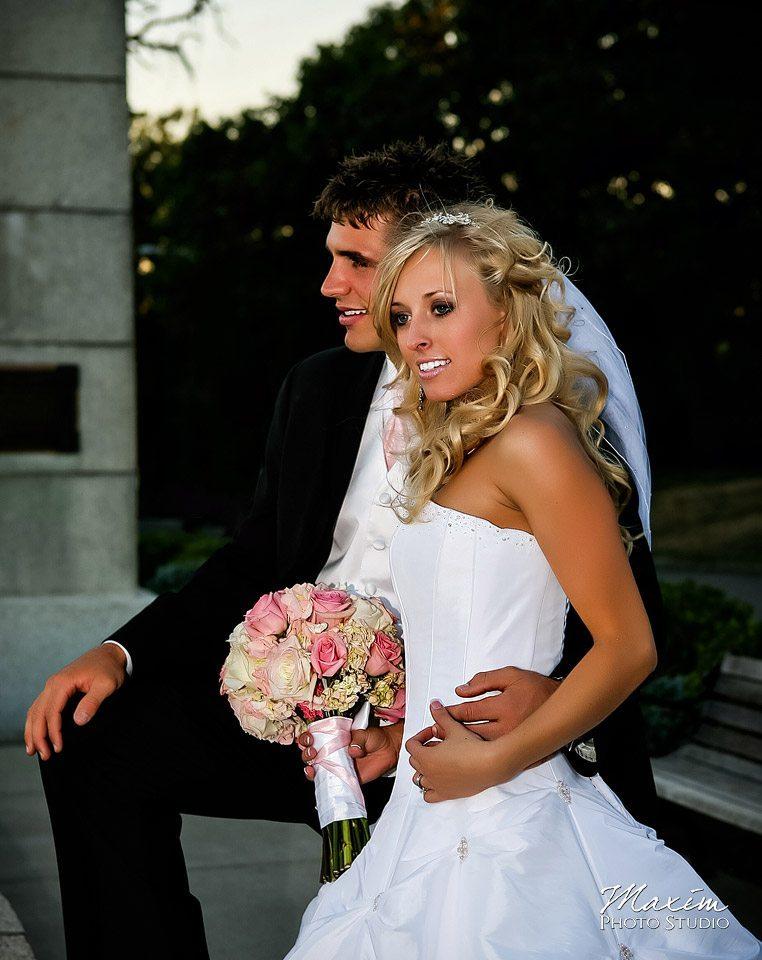 cincinnati eden park bridal portraits