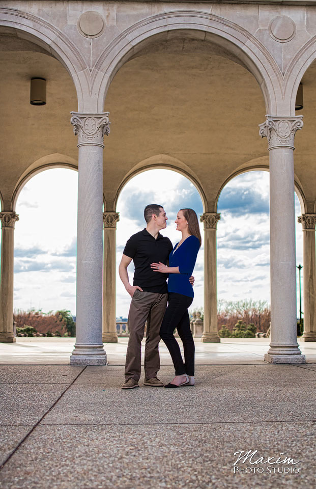 ault park pavilion wedding engagement