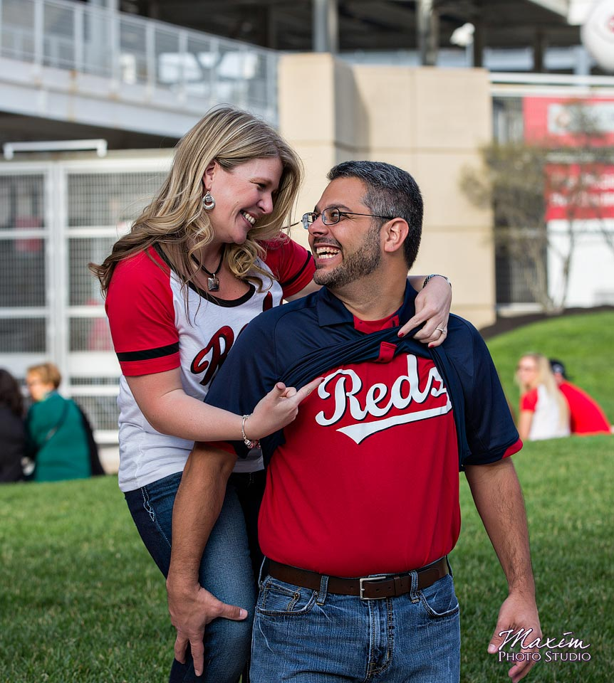 Engagement Photos at Great American Ballpark
