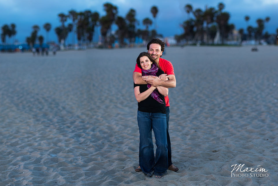 venice beach, los angeles engagement