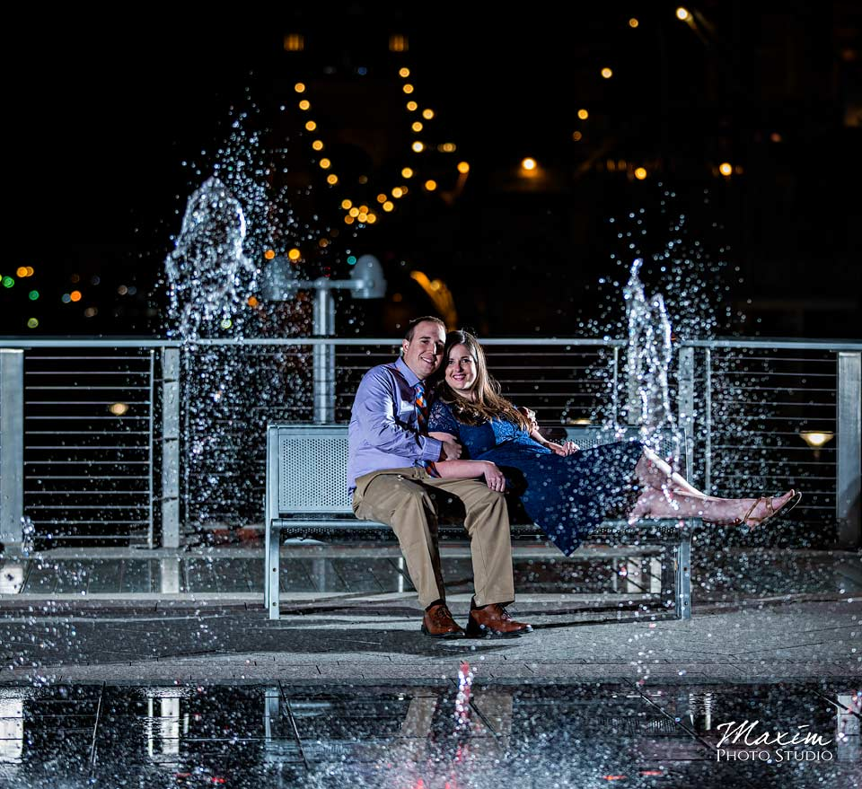 smale riverfront park engagement photo