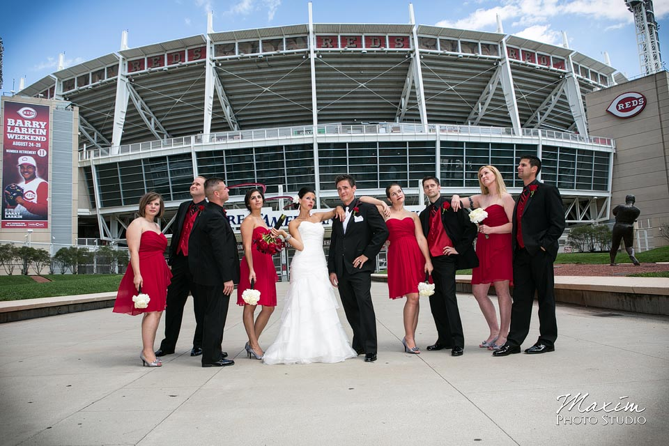 bridal party great american ballpark