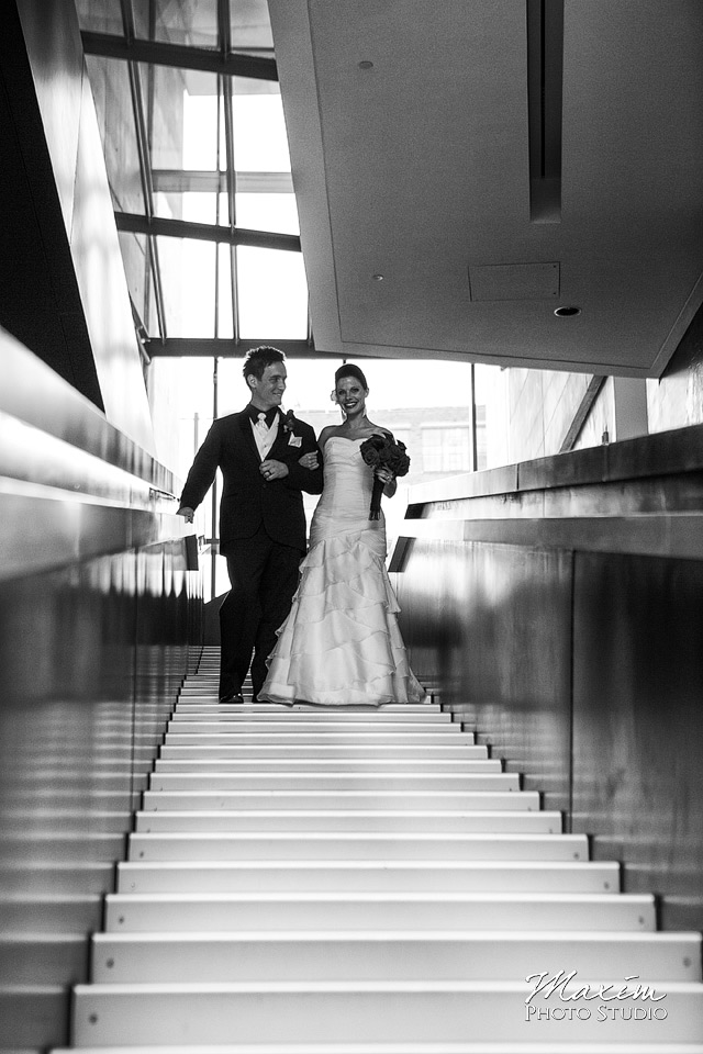 wedding couple entrance contemporary art center