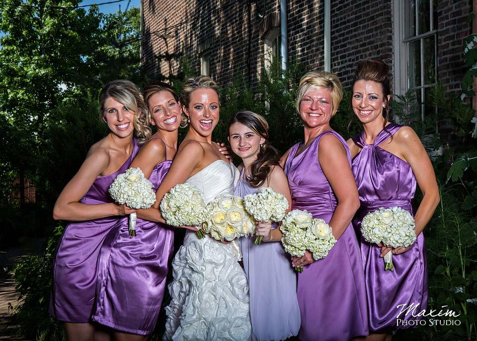 Taylor Mansion Columbus Ohio Wedding Bridesmaids
