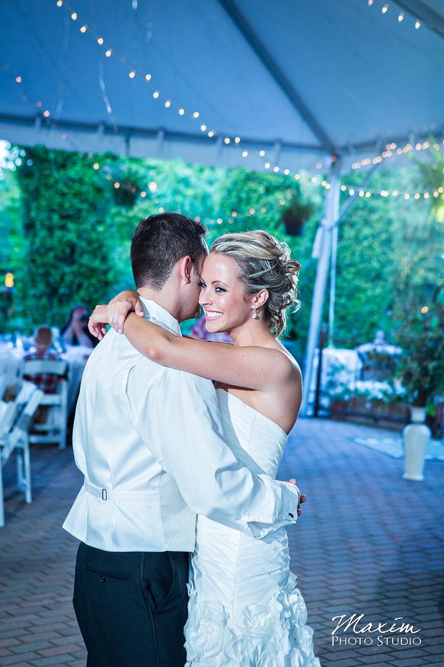 Taylor Mansion Columbus Ohio Wedding reception bistro lights