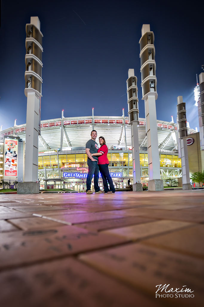 Reds Stadium Cincinnati Engagement Pictures