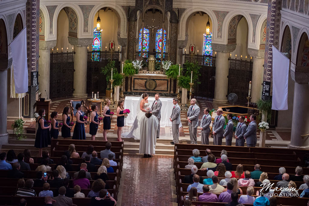 Cincinnati wedding photographers St. Monica St. George Parrish pictures