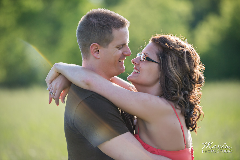 carriage hill dayton ohio engagement photo
