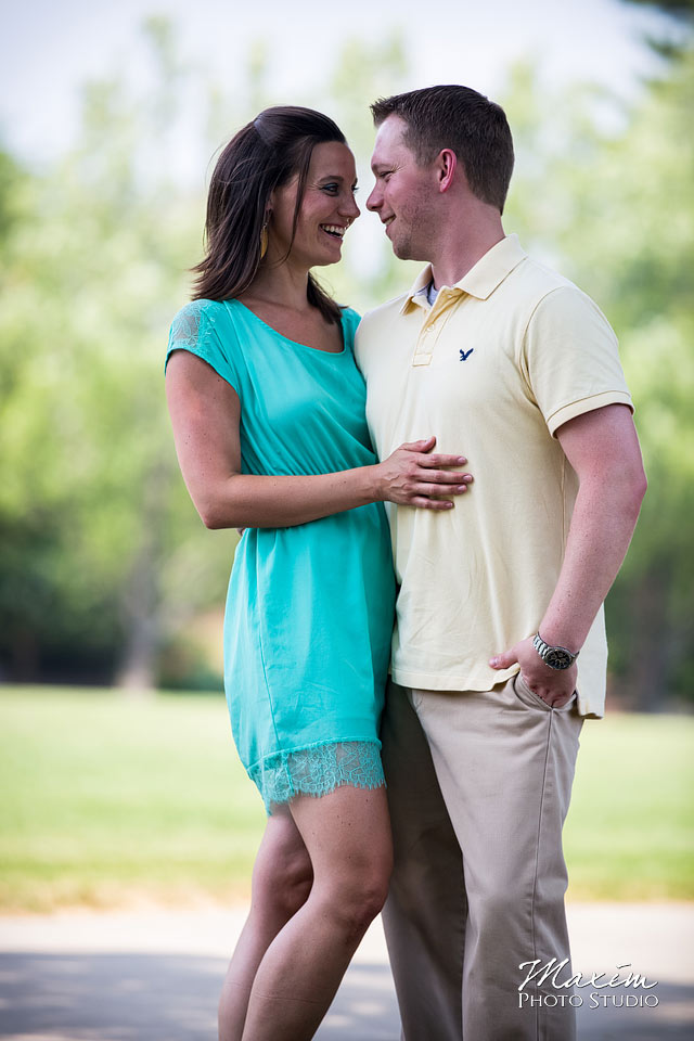 ault park cincinnati, cincinnati wedding engagement