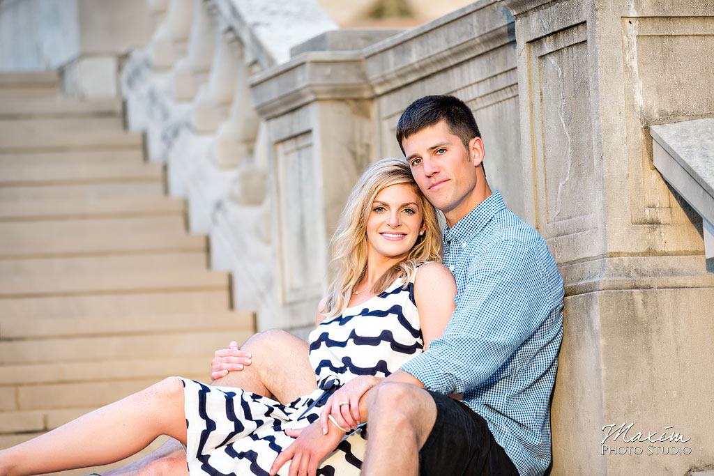 Ault Park Cincinnati Ohio engagement picture