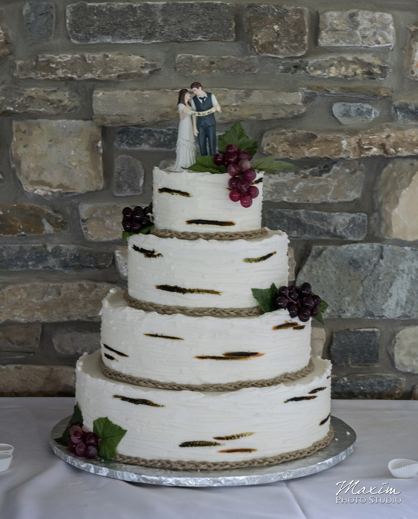Chateau Pomije winery wedding reception cake