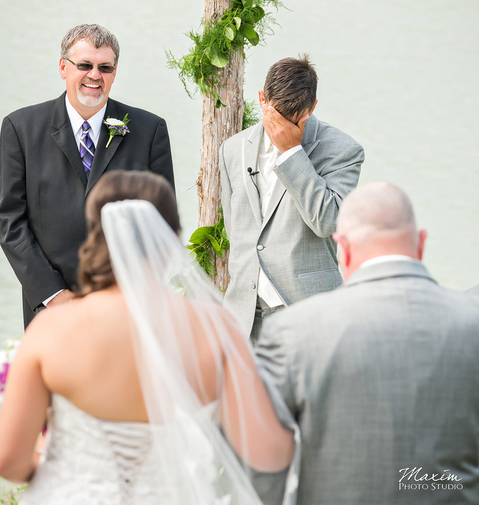 Chateau Pomije winery wedding ceremony photo