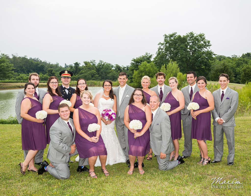 Chateau Pomije winery wedding bridal party photo