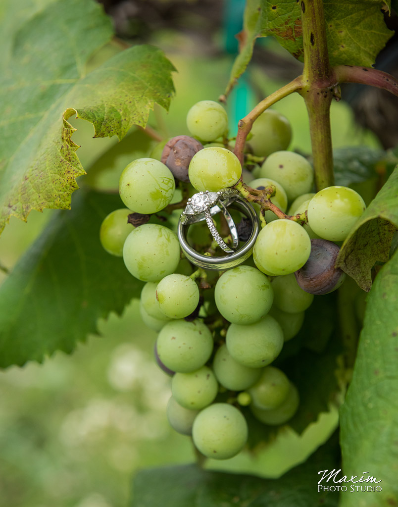 Chateau Pomije winery cincinnati wedding ring photo