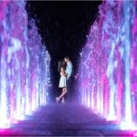 Cincinnati Wedding Photographers Smale Riverfront Park Night Engagement