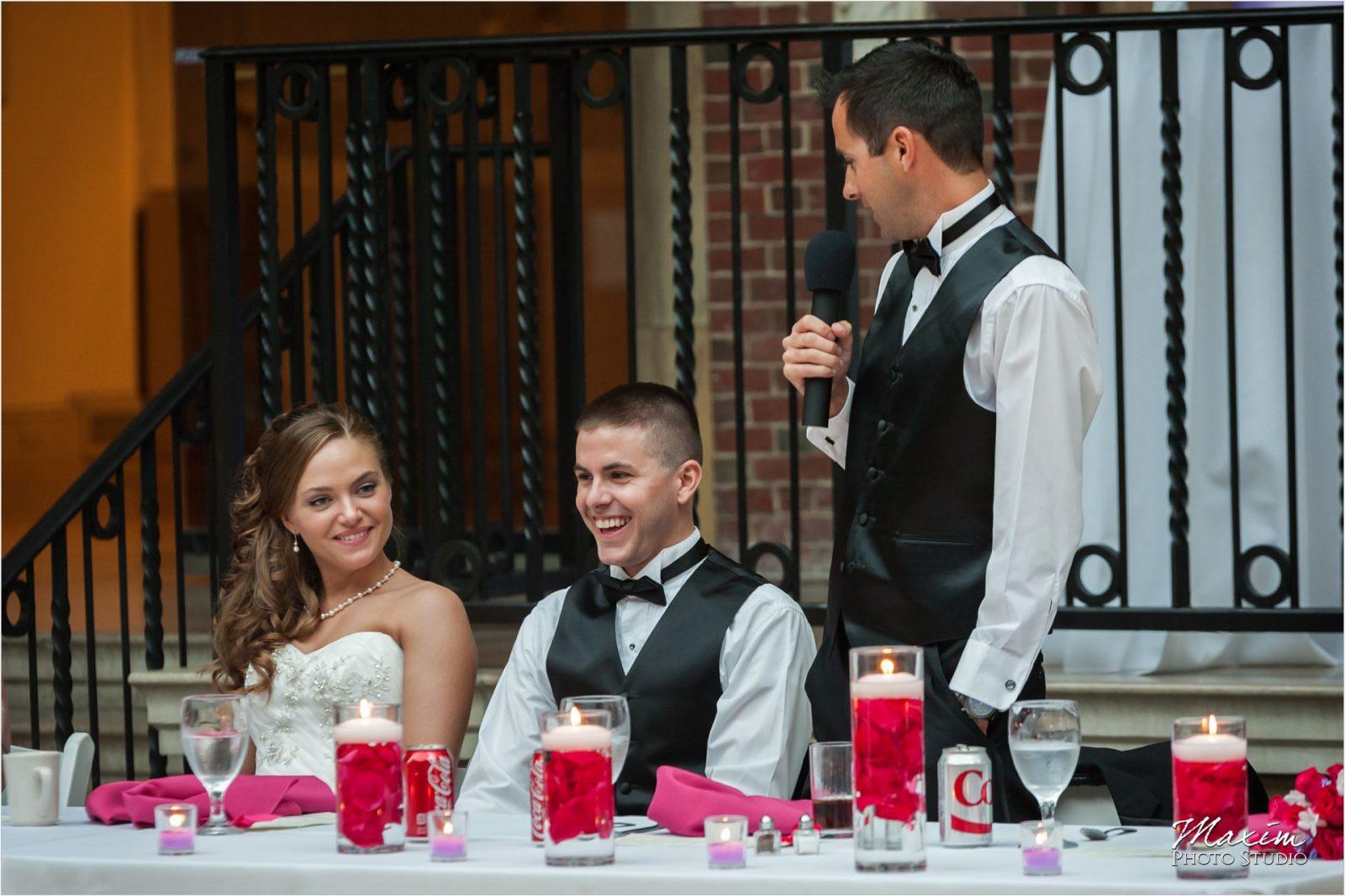 Dayton Art Institute Wedding Reception Toast