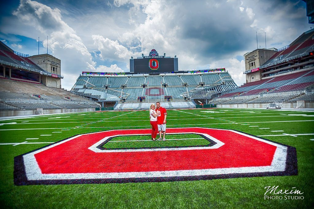 Ohio stadium columbus engagement pictures