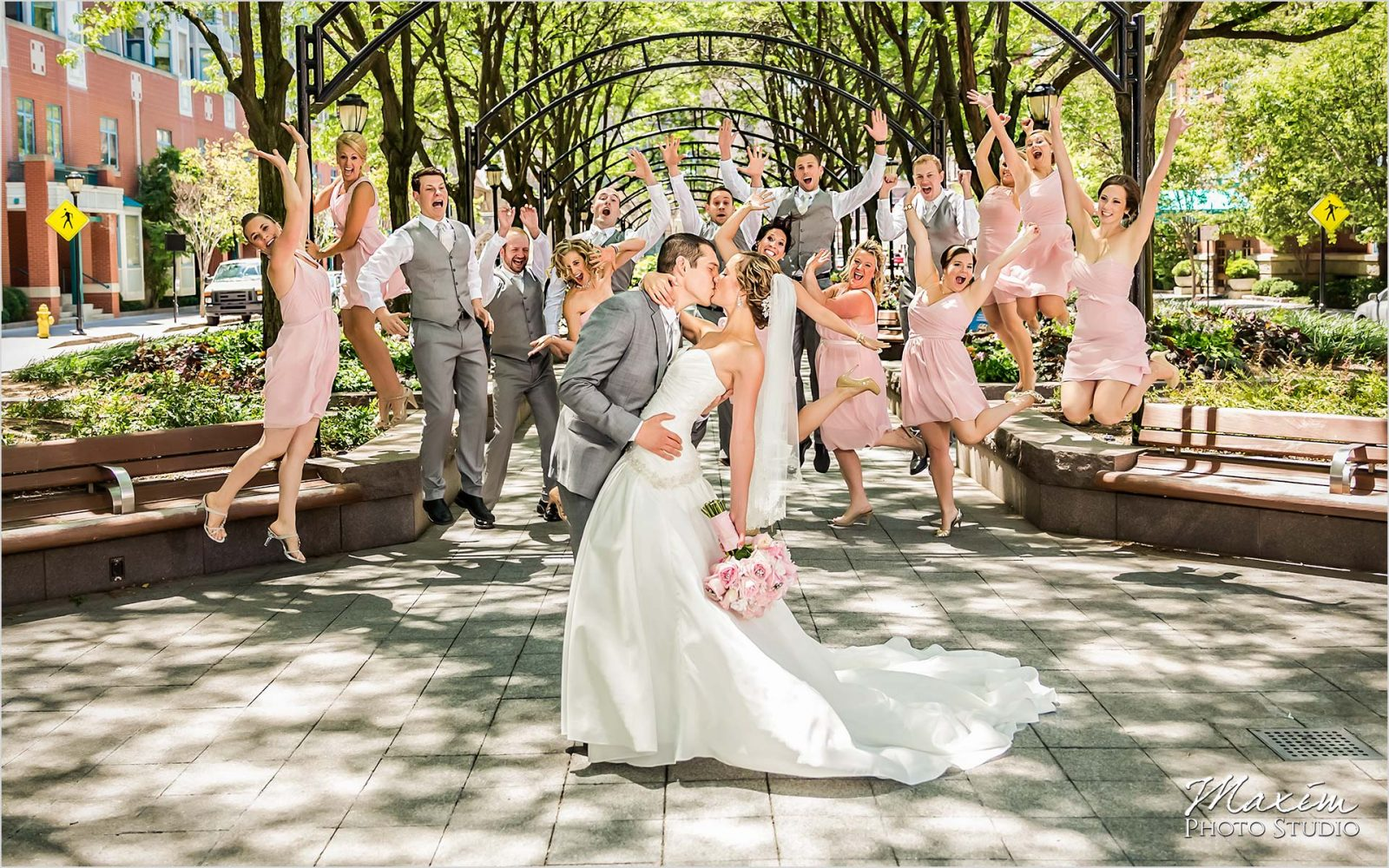 Piatt Park Cincinnati Wedding portraits