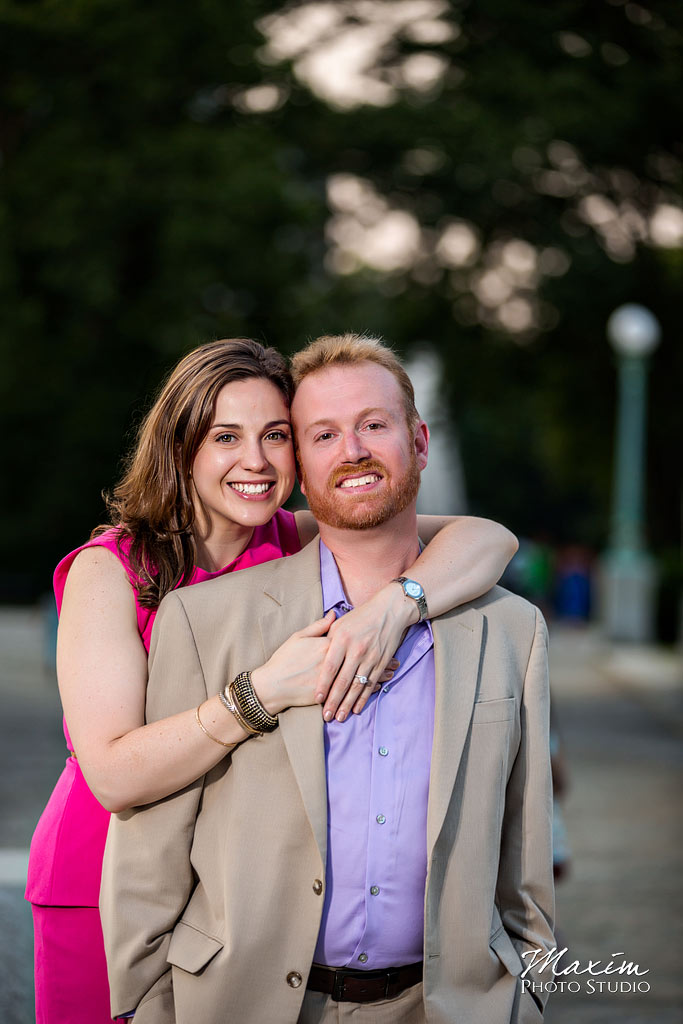 Prospect Park NYC nighttime engagement photography