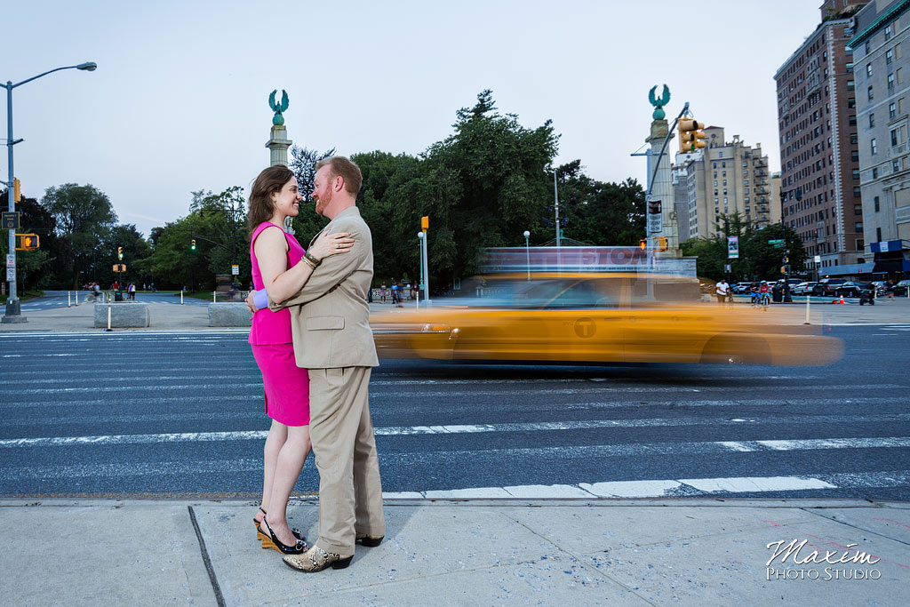 Prospect Park NYC night time engagement photography