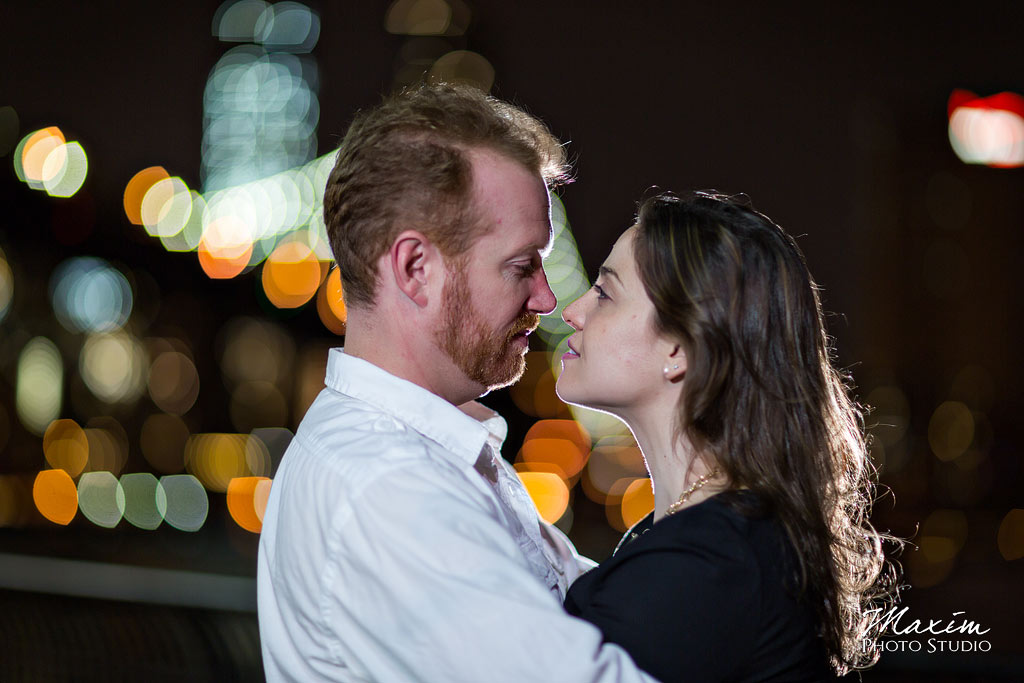 brooklyn bridge NYC nighttime engagement photography