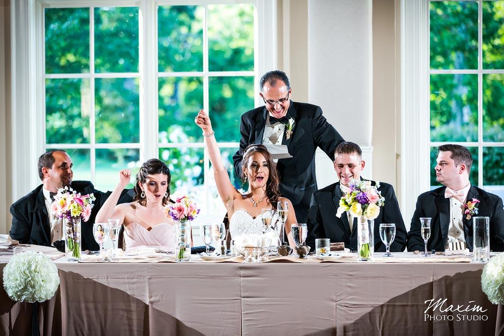Pinnacle Golf Club reception toast