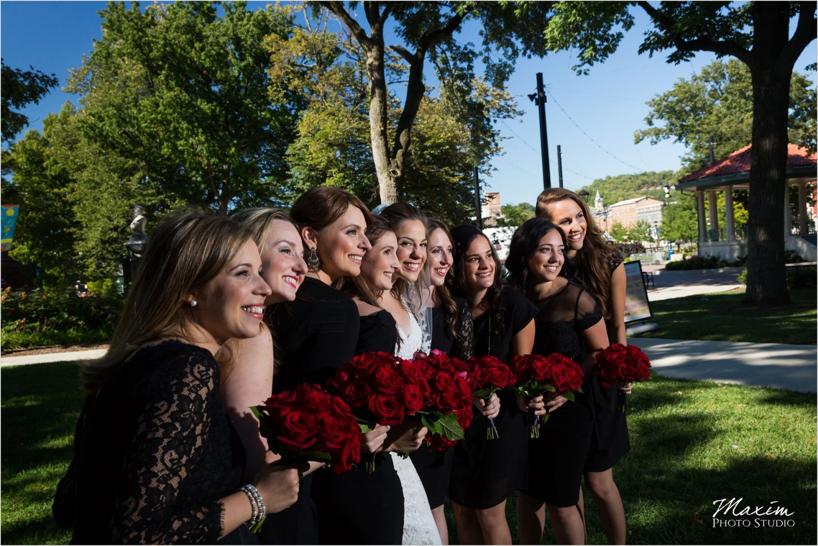 Washington Park Cincinnati Jewish Wedding bridesmaids