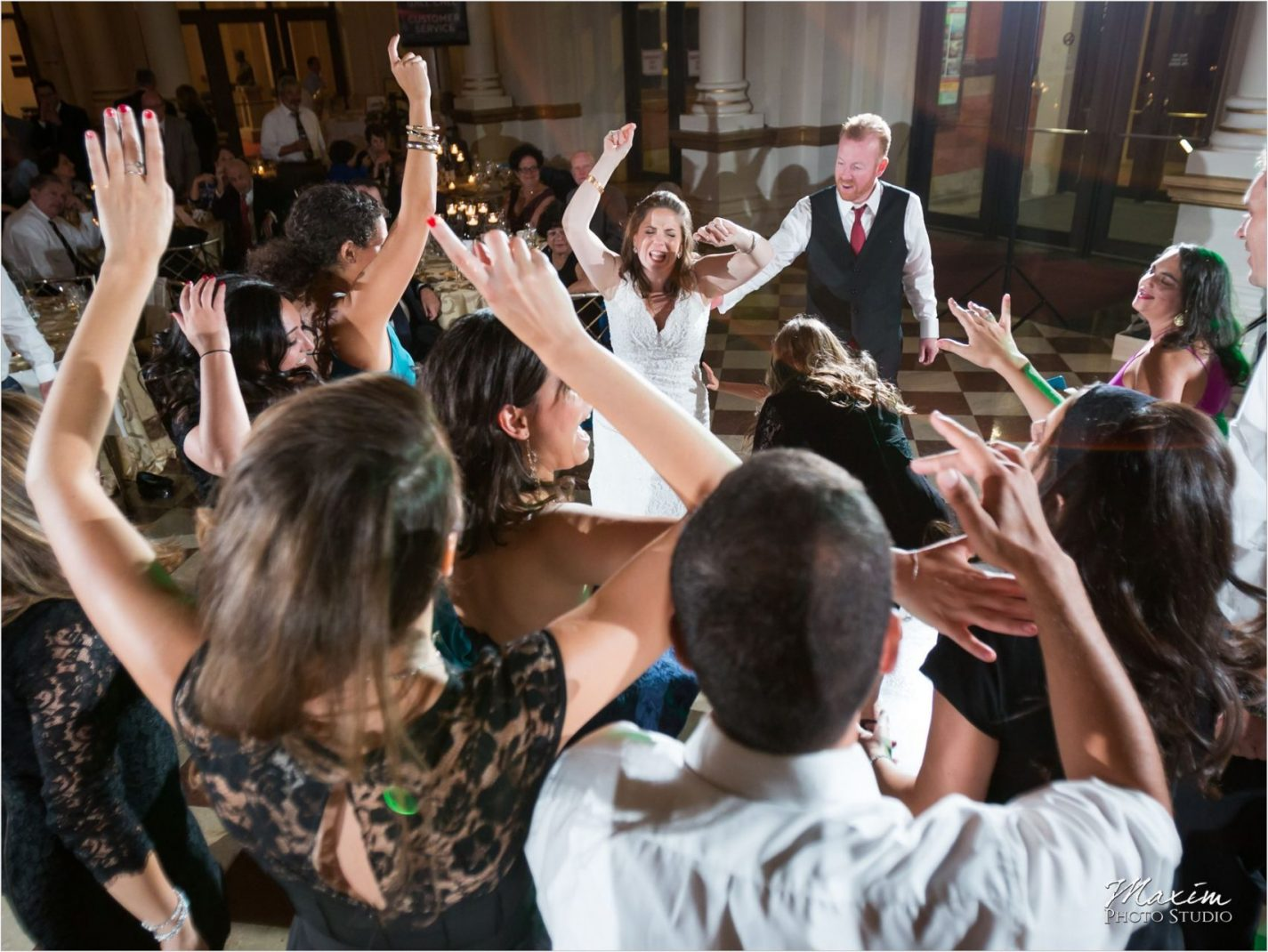 Cincinnati Music Hall Jewish Wedding Reception