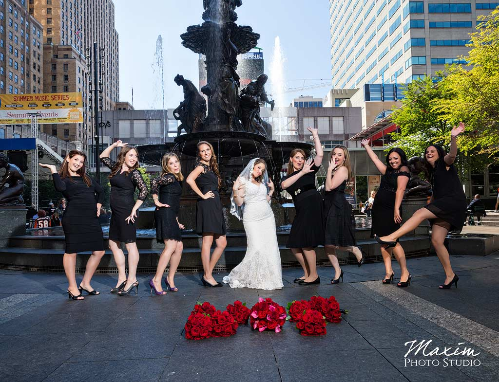 Fountain Square Wedding pictures