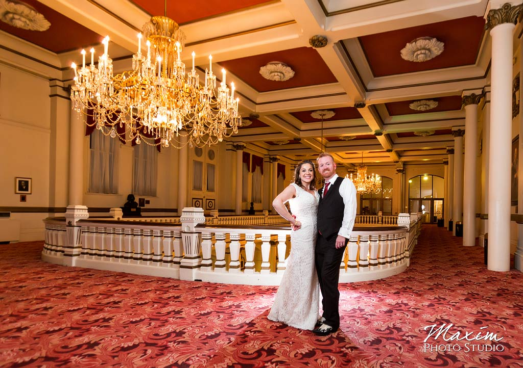 Cincinnati Music Hall Wedding Portrait