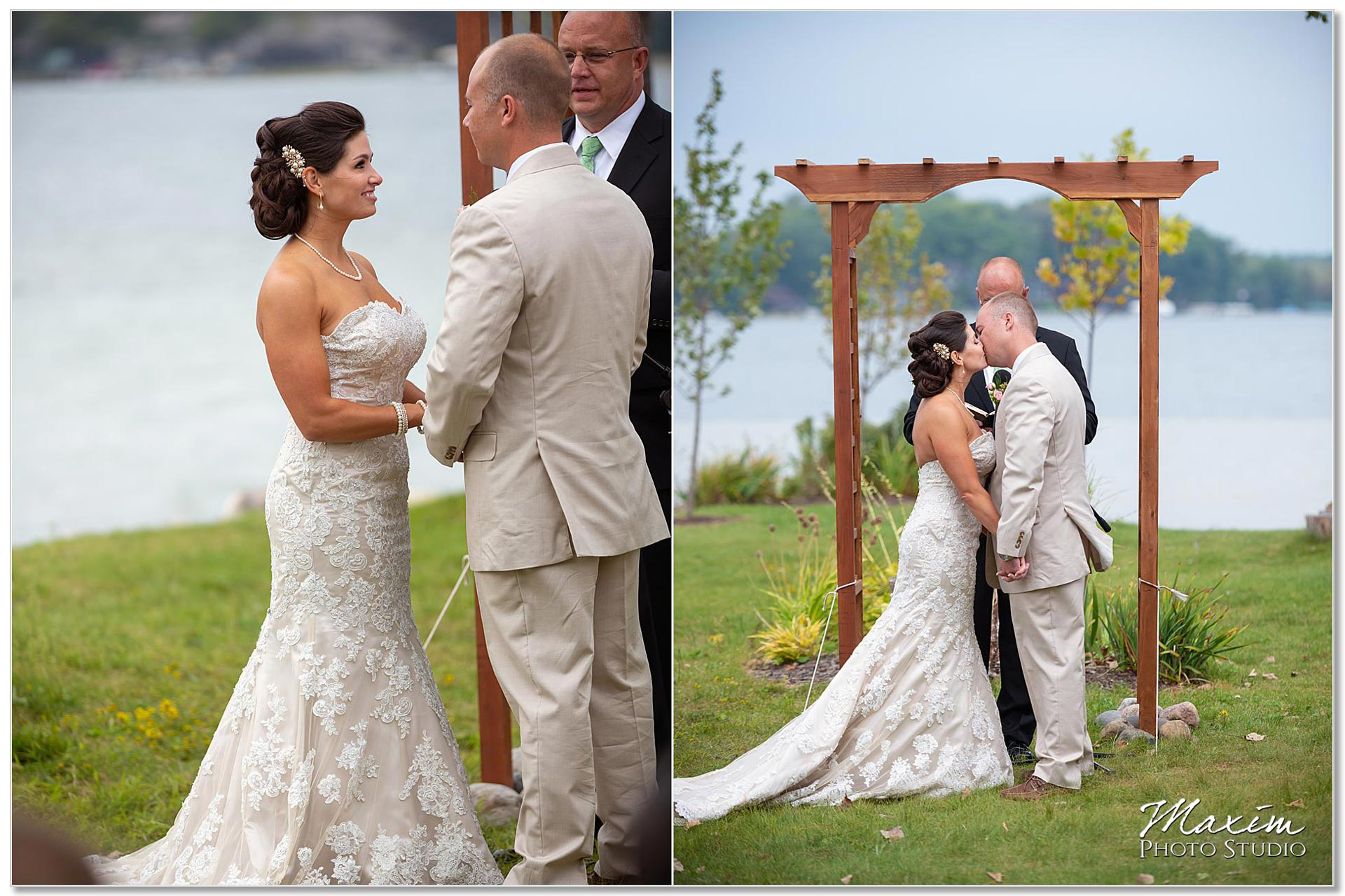 Clear Lake Kusota Island wedding ceremony