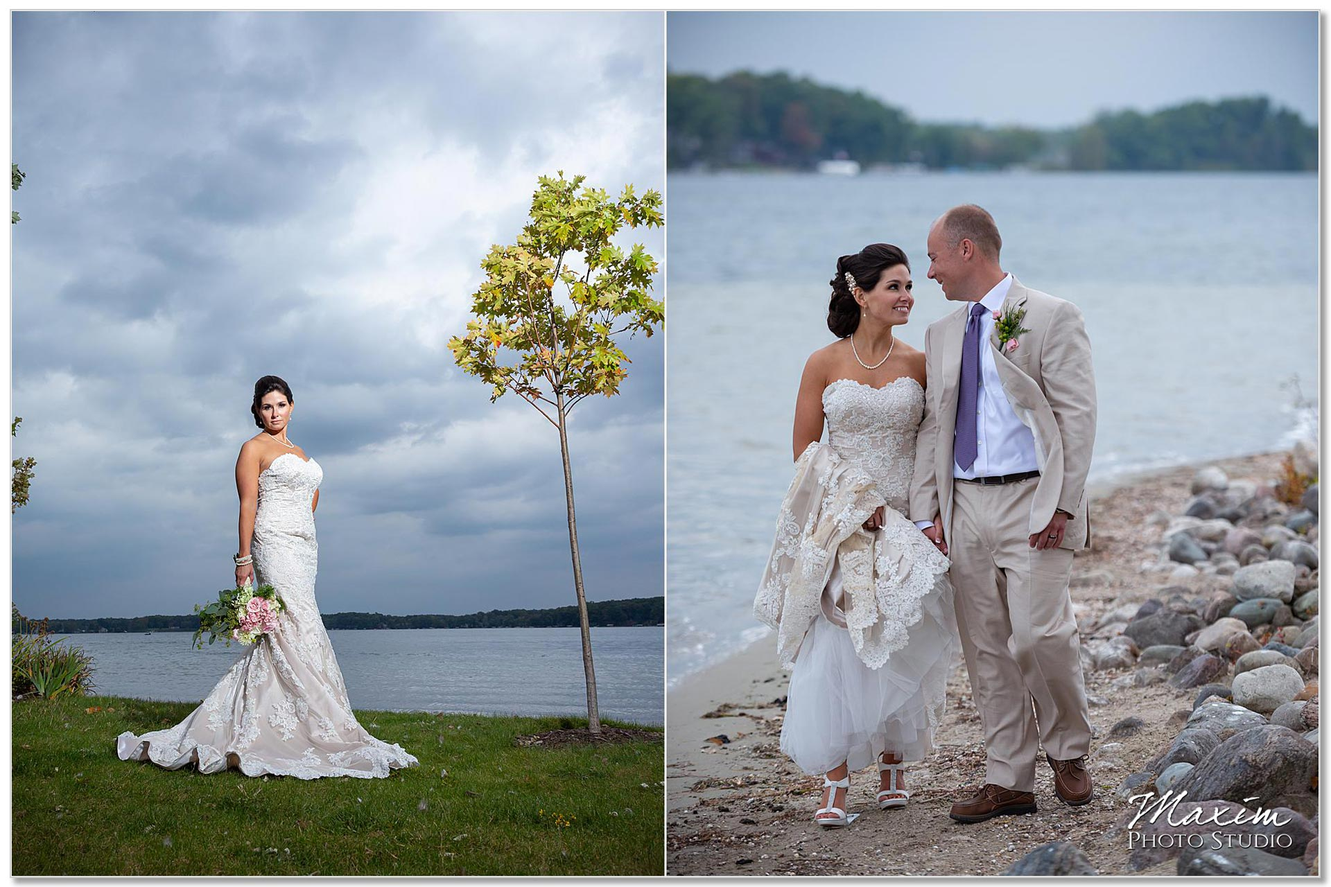 Clear Lake Kusota Island wedding portraits